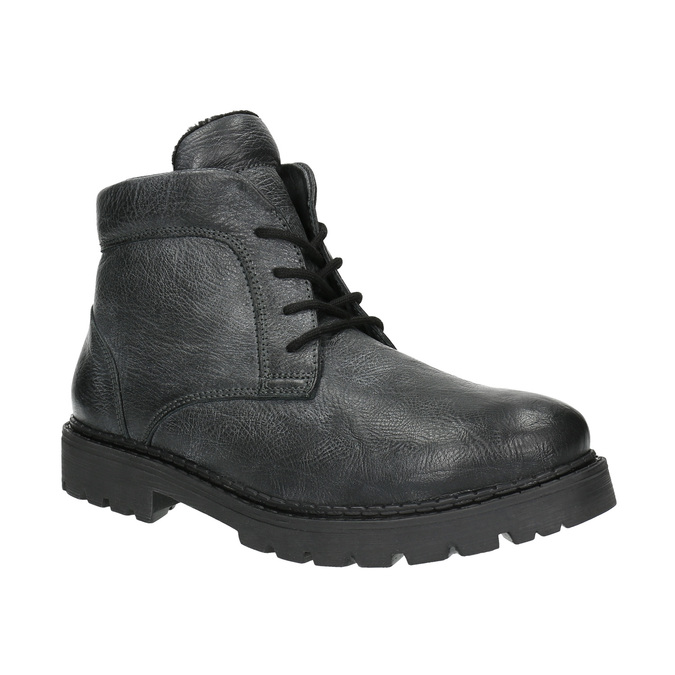Pánska kožená členková obuv bata, šedá, 896-2653 - 13