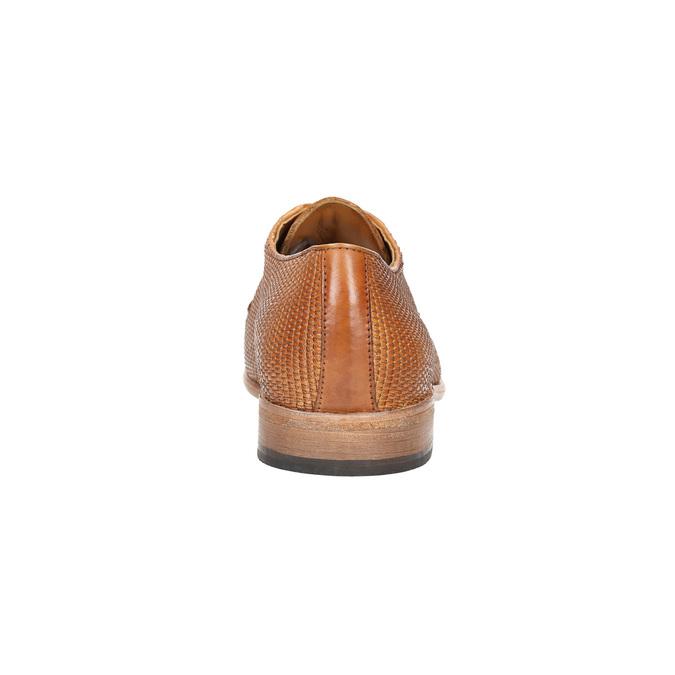 Celokožené pánske poltopánky hnedé bata, hnedá, 826-3776 - 17
