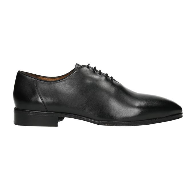 Čierne celokožené Oxfordky bata, čierna, 824-6788 - 15