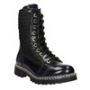 Kožená šnurovacia obuv na výraznej podrážke weinbrenner, čierna, 596-9635 - 13