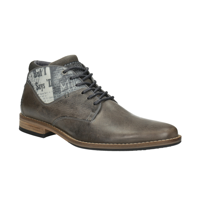 Ležérne pánske poltopánky bata, šedá, 826-2735 - 13