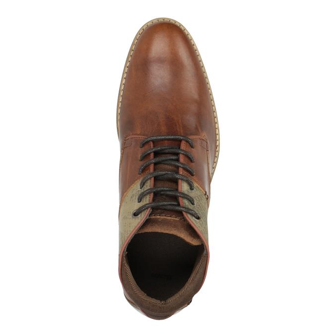 Hnedé kožené poltopánky bata, hnedá, 826-3735 - 19