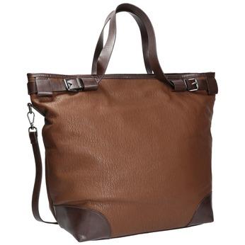 Kabelka v štýle Tote Bag bata, hnedá, 961-3206 - 13