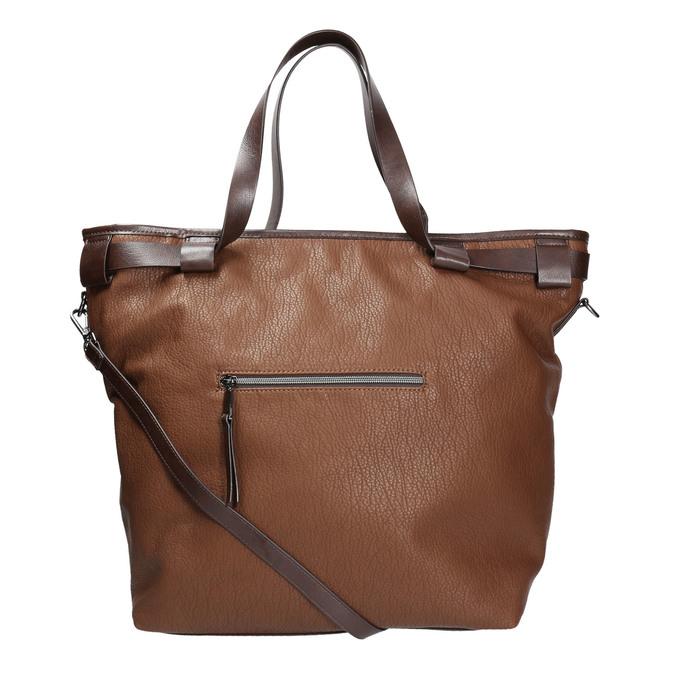 Kabelka v štýle Tote Bag bata, hnedá, 961-3206 - 19