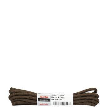 Hnedé guľaté šnúrky bata, hnedá, 901-4124 - 13
