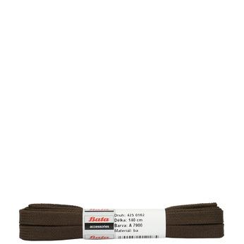 Hnedé ploché šnúrky bata, hnedá, 901-4140 - 13
