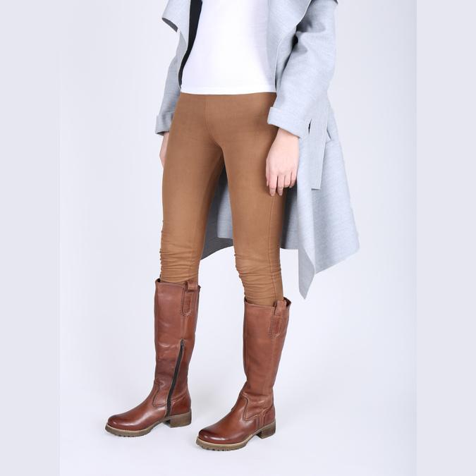Hnedé kožené čižmy bata, hnedá, 594-4613 - 18