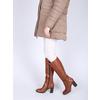 Dámské kožené čižmy bata, hnedá, 794-4447 - 18
