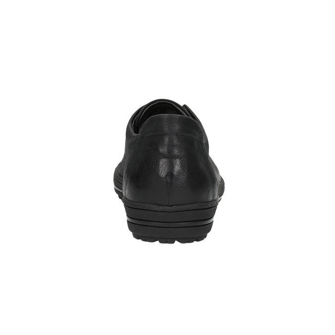 Dámske kožené tenisky bata, čierna, 524-6349 - 17