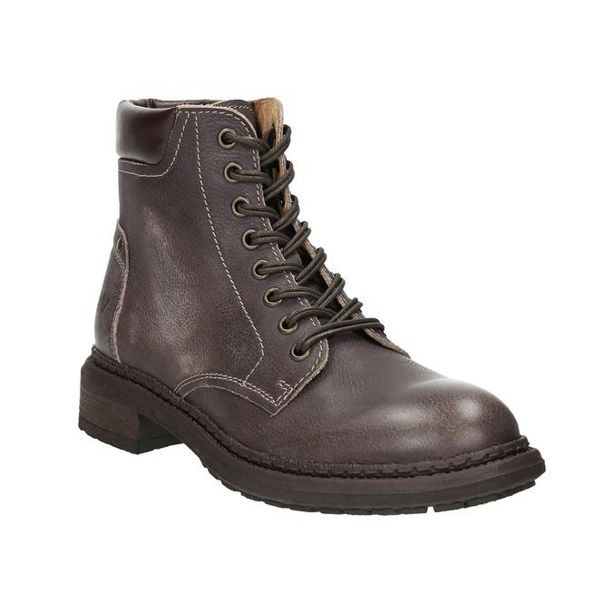 Dámska kožená členková obuv weinbrenner, hnedá, 596-4632 - 13