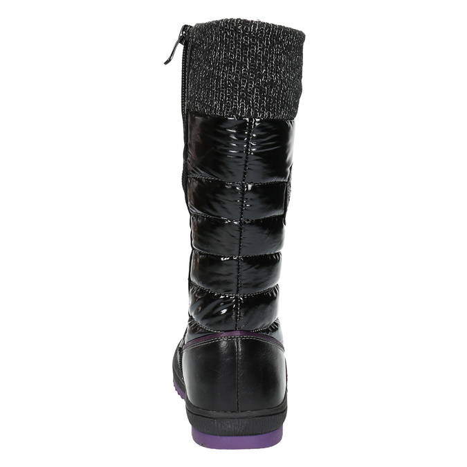 Dievčenské ležérne čižmy s prešívaním mini-b, čierna, 399-6652 - 17