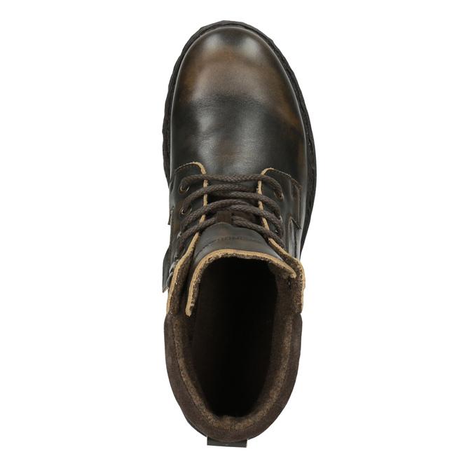 Pánska kožená členková obuv weinbrenner, hnedá, 896-4110 - 19