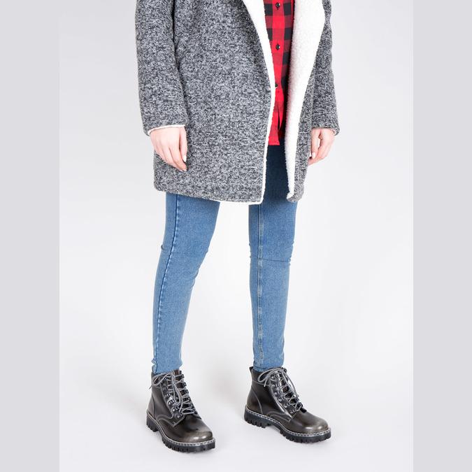 Kožená dámska zimná obuv weinbrenner, zelená, 596-7634 - 18