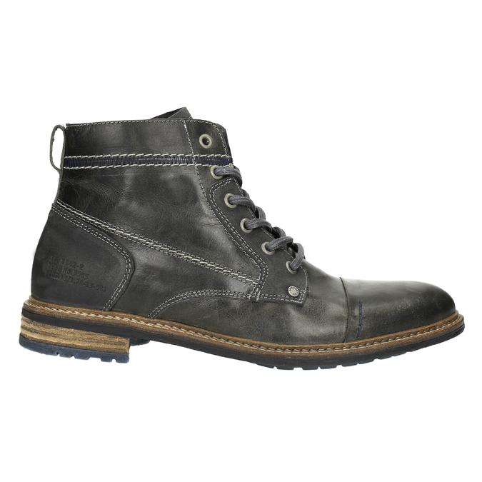 Pánska kožená obuv členková bata, šedá, 894-2621 - 15