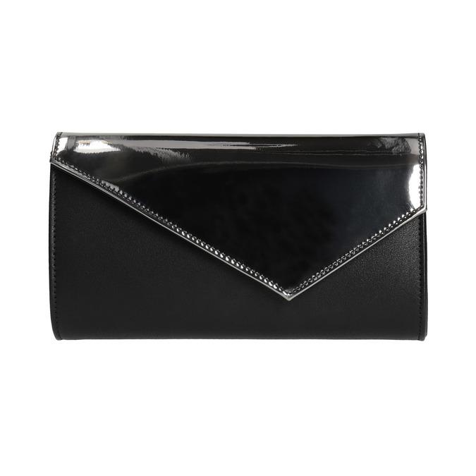Listová kabelka s lakovanou klopou bata, šedá, 961-2673 - 26