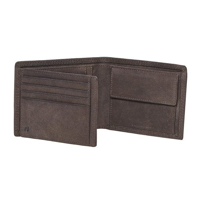 Pánská kožená peňaženka bata, hnedá, 944-4129 - 17