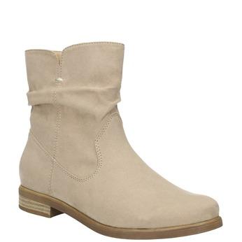 Dámske členkové čižmy bata, béžová, 599-8614 - 13