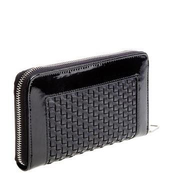 Dámska peňaženka v pletenom dizajne bata, čierna, 941-6132 - 13