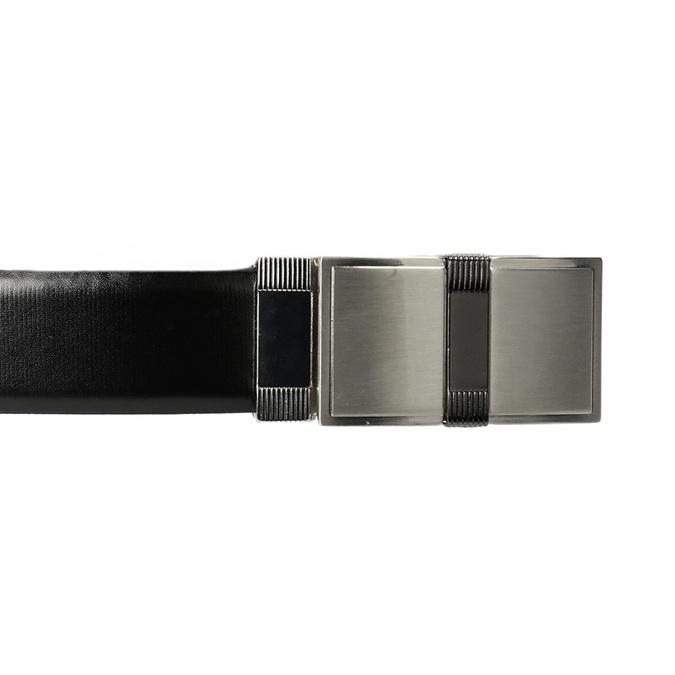 Pánský opasok s hranatou sponou bata, čierna, 954-6140 - 26
