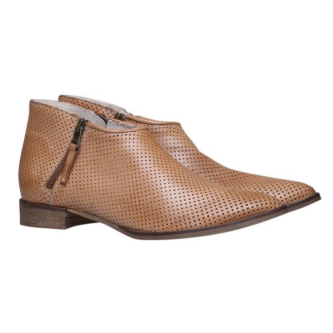Kožené členkové čižmy bata, hnedá, 594-3400 - 26