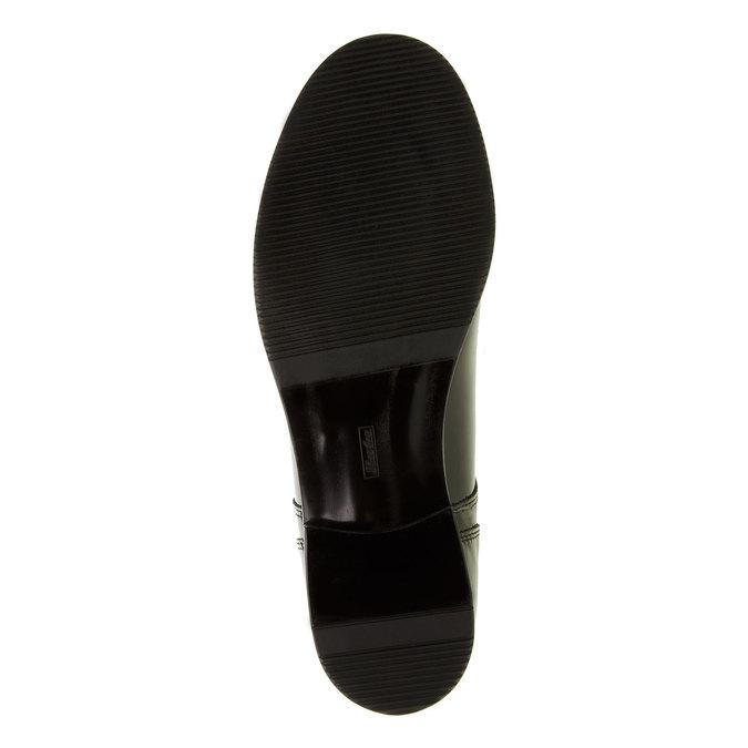 Dámske poltopánky z lakovanej kože bata, čierna, 528-6117 - 26