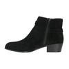 Ćlenková obuv z brúsenej kože bata, čierna, 693-6600 - 26