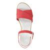 Kožené sandále na nízkom podpätku bata-touch-me, červená, 666-5203 - 26