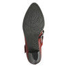 Kožené lodičky s remienkom cez pracku bata, červená, 626-5604 - 26