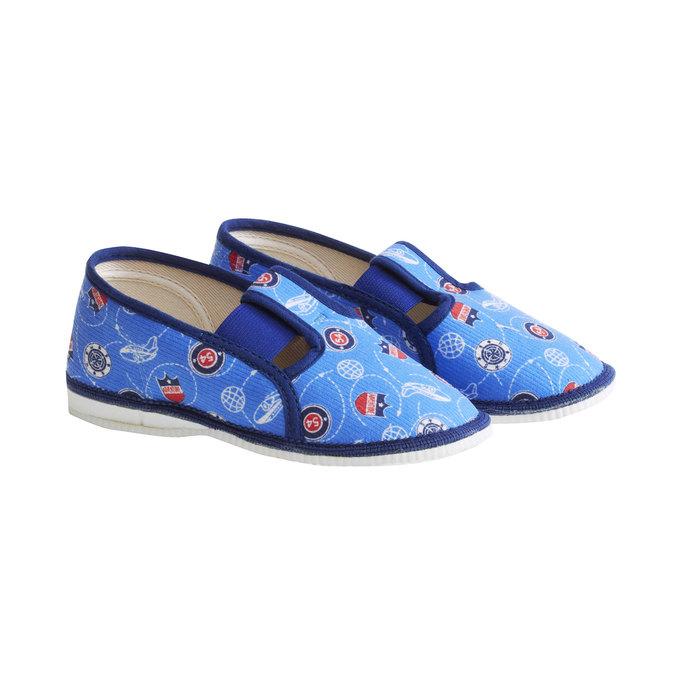 Detské papuče bata, modrá, 179-0105 - 26