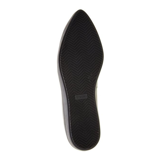 Kožené baleríny bata, čierna, 524-6464 - 26
