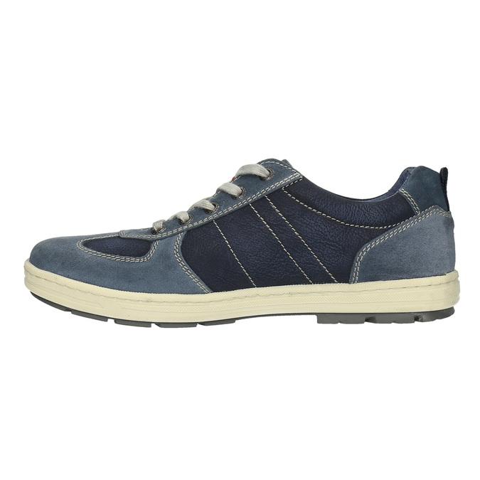Pánske kožené tenisky bata, modrá, 826-9649 - 26