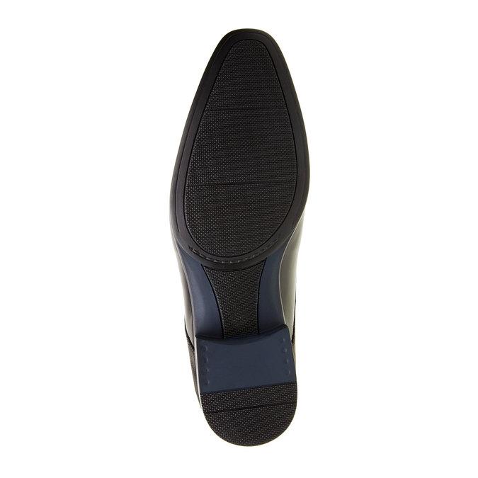 Kožené pánske poltopánky conhpol, čierna, 824-6146 - 26