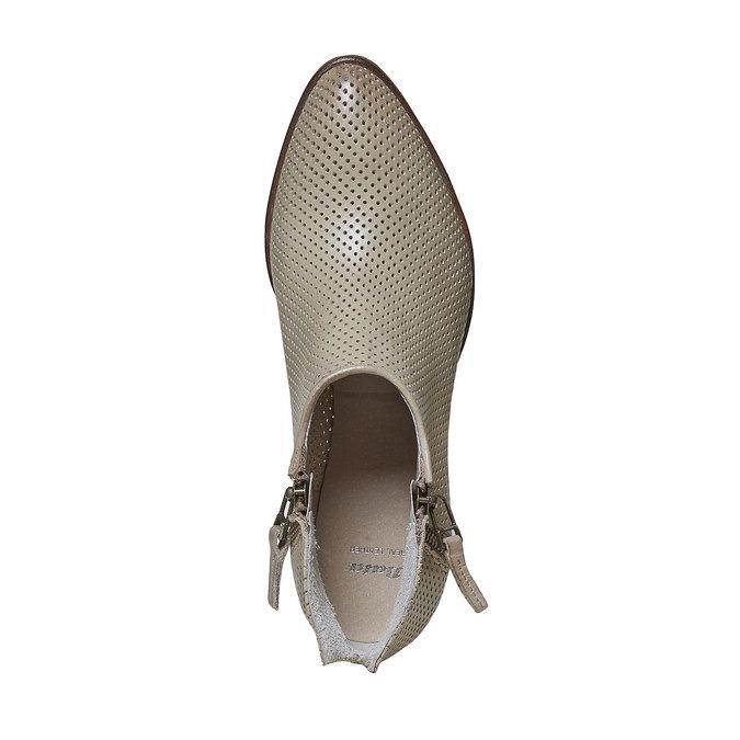 Kožené členkové čižmy bata, béžová, 594-2400 - 19