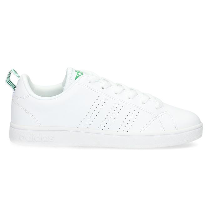 Biele tenisky so zelenými detailami adidas, biela, 501-1300 - 19