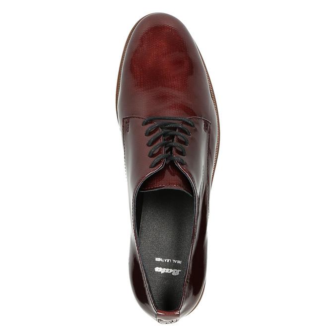 Dámske Derby poltopánky bata, červená, 528-5600 - 19