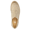Dámske kožené poltopánky so zdobením bata, béžová, 524-8482 - 19