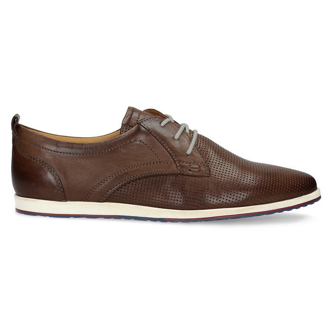 Ležérne kožené tenisky bata, hnedá, 824-4124 - 19