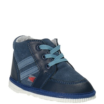 Detská kožená domáca obuv bata, modrá, 104-9001 - 13