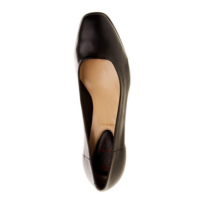 Kožené lodičky flexible, čierna, 624-6706 - 19