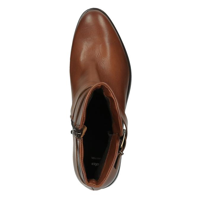 Kožená členková obuv s prackou bata, hnedá, 594-4602 - 19