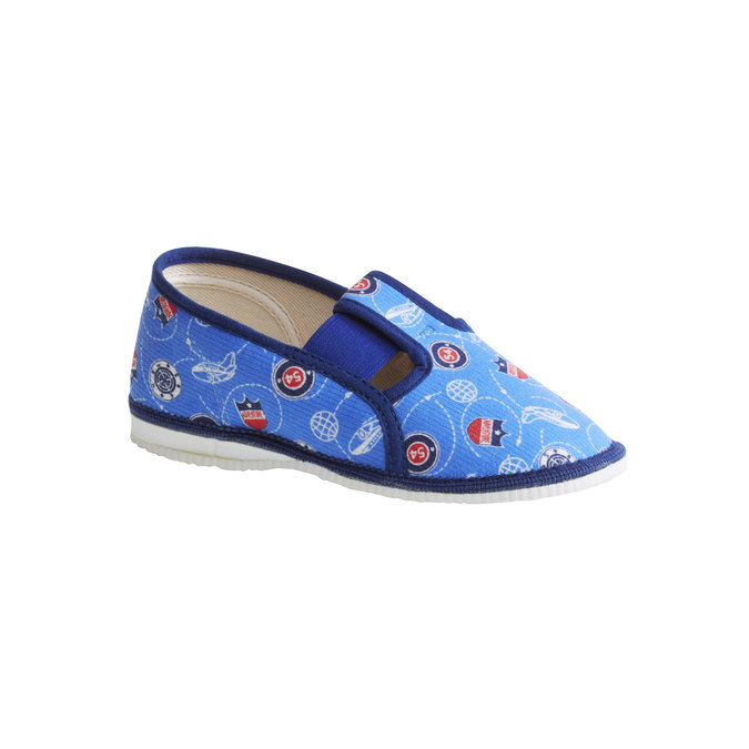 Detské papuče bata, modrá, 179-0105 - 13