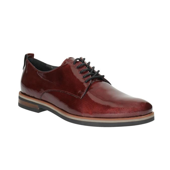 Dámske Derby poltopánky bata, červená, 528-5600 - 13