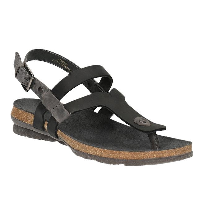 Dámske kožené sandále weinbrenner, čierna, 566-6101 - 13