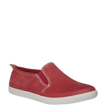 Kožené Plim Soll topánky s perforáciou bata, červená, 514-5197 - 13
