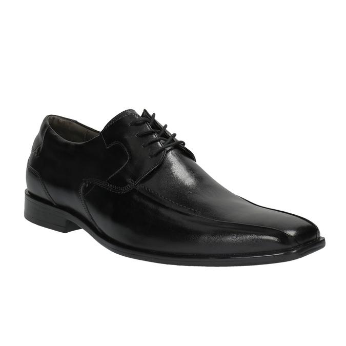Pánske kožené poltopánky bata, čierna, 824-6721 - 13