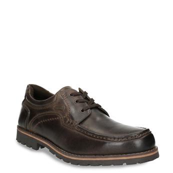 Kožené ležérne poltopánky bata, hnedá, 826-4640 - 13