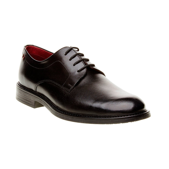 Comfort – kožené poltopánky v Brogue štýle bata-comfit, čierna, 824-6938 - 13
