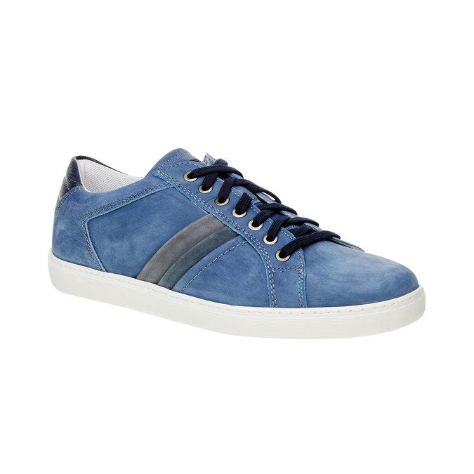 Ležérne tenisky z brúsenej kože bata, modrá, 846-9638 - 13