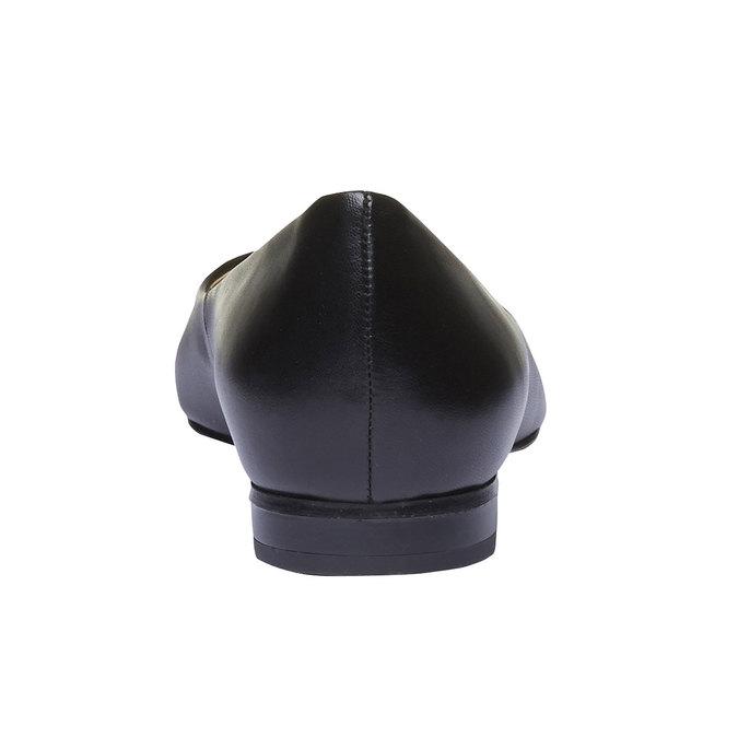 Čierne kožené baleríny do špičky bata, čierna, 524-6493 - 17