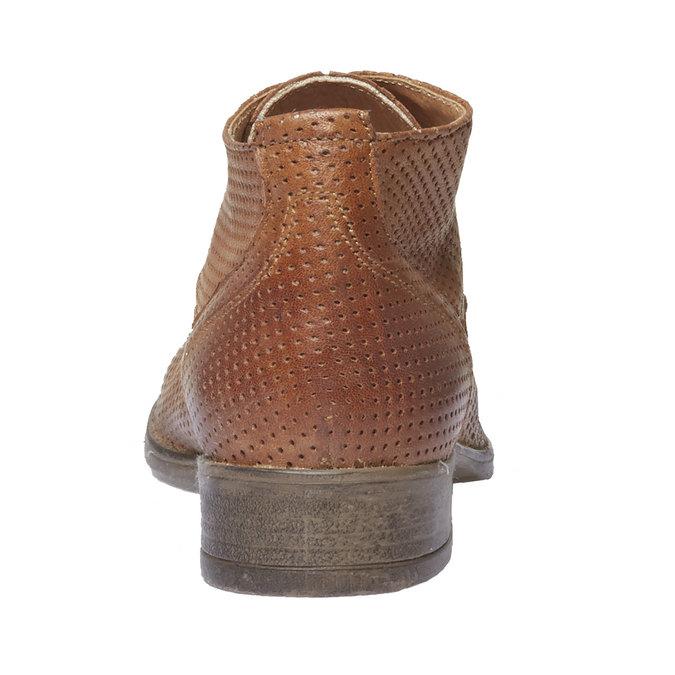Dámske kožené členkové topánky bata, hnedá, 524-3468 - 17